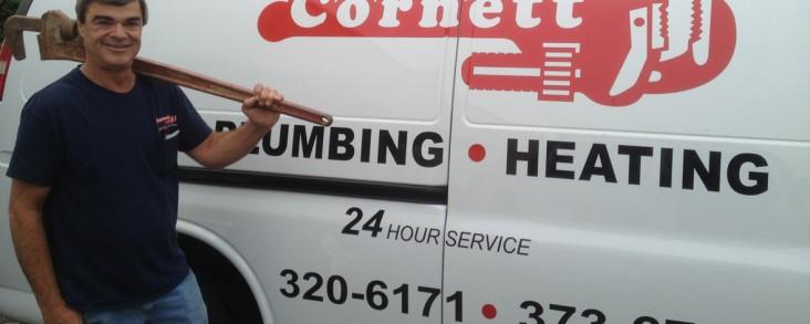 Cornett Plumbing van